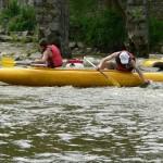 Sjezd řeky Sázavy - mělká voda