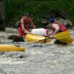 Sjezd řeky Sázavy - v akci
