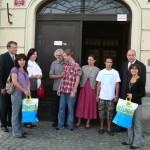 Slavnostní předání bytu Vratislavově ulici