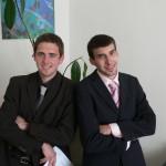 Petr a Richard po zkouškách